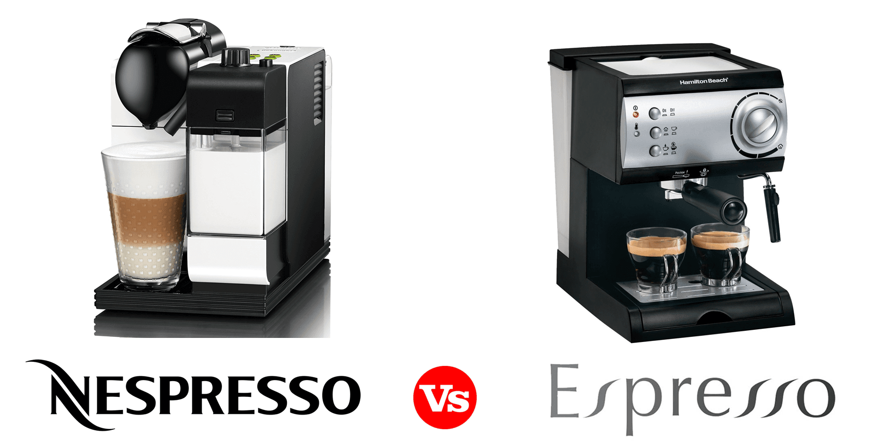 the difference between a nespresso and espresso machine. Black Bedroom Furniture Sets. Home Design Ideas